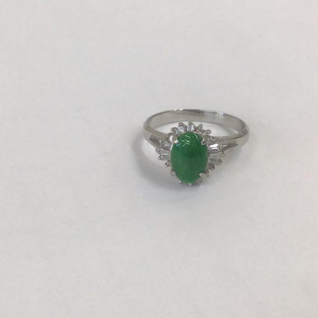 お母様から譲ってもらった翡翠の指輪の作り替え BEFORE