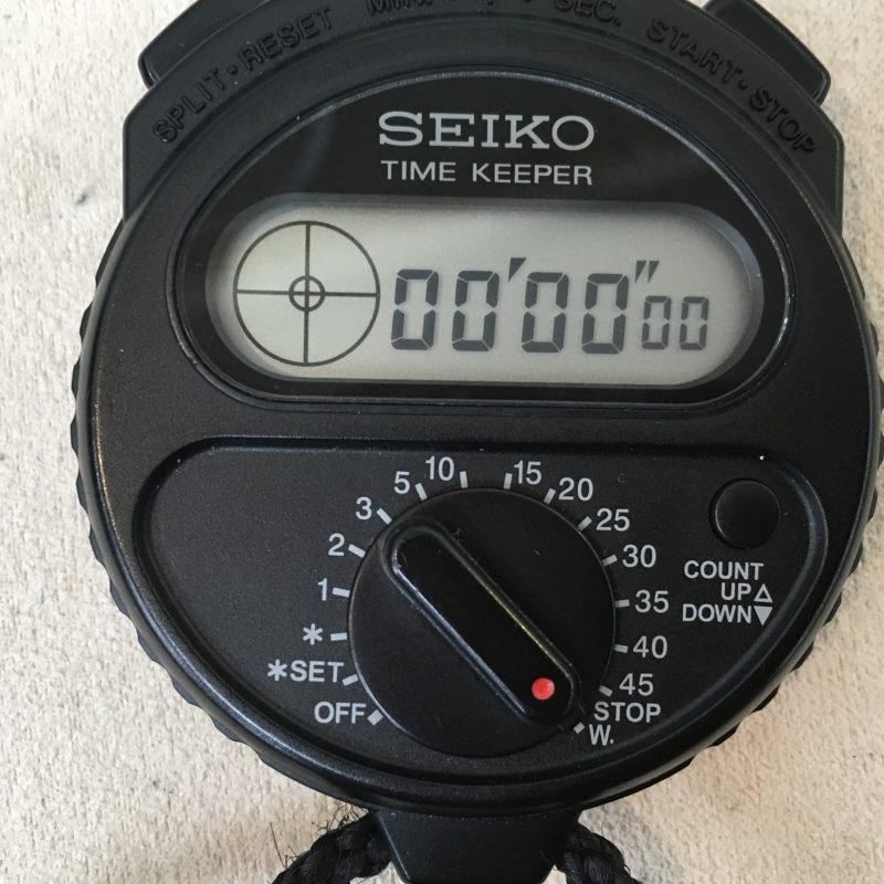 SEIKO タイムキーパーの電池交換
