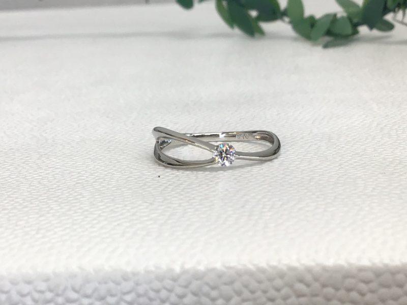 指輪の石留め