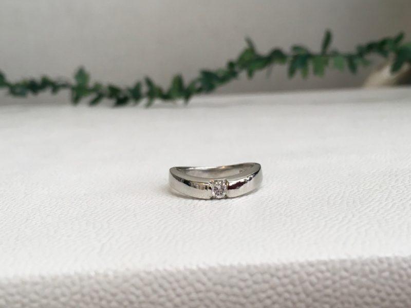 指輪の石入れ修理
