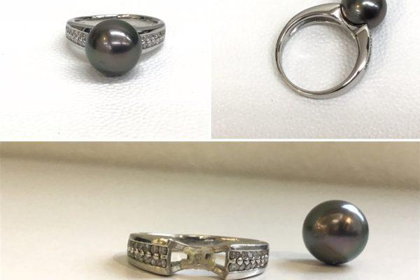 黒蝶真珠の指輪の修理