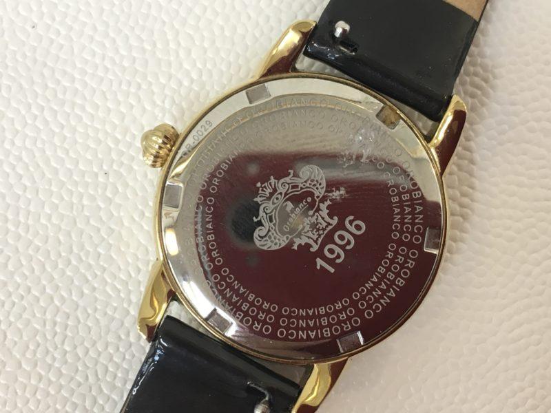 オロビアンコの腕時計の裏蓋