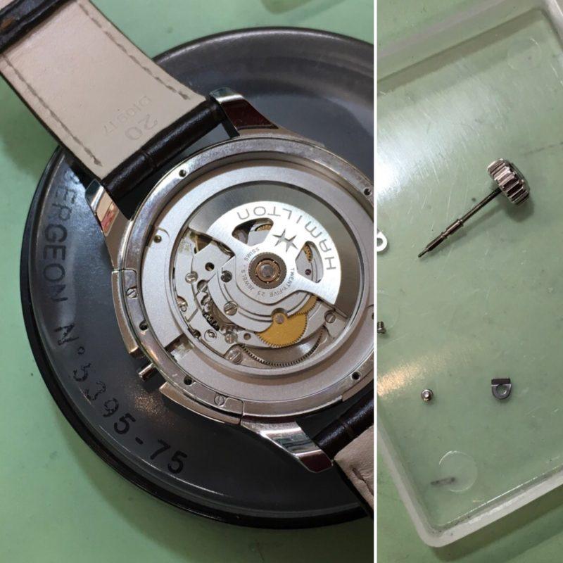 ハミルトン腕時計の秒針取り付け修理