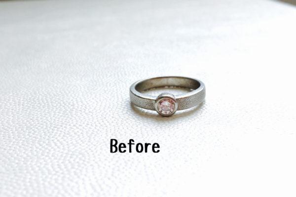 ダイヤの指輪をペンダントネックレスに作り替え