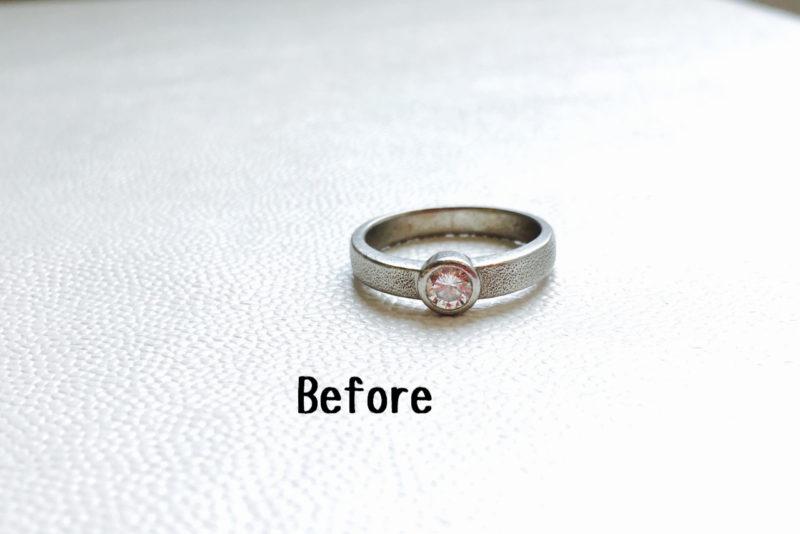 ジュエリーリフォーム_ビフォー_指輪をペンダントに作り替え