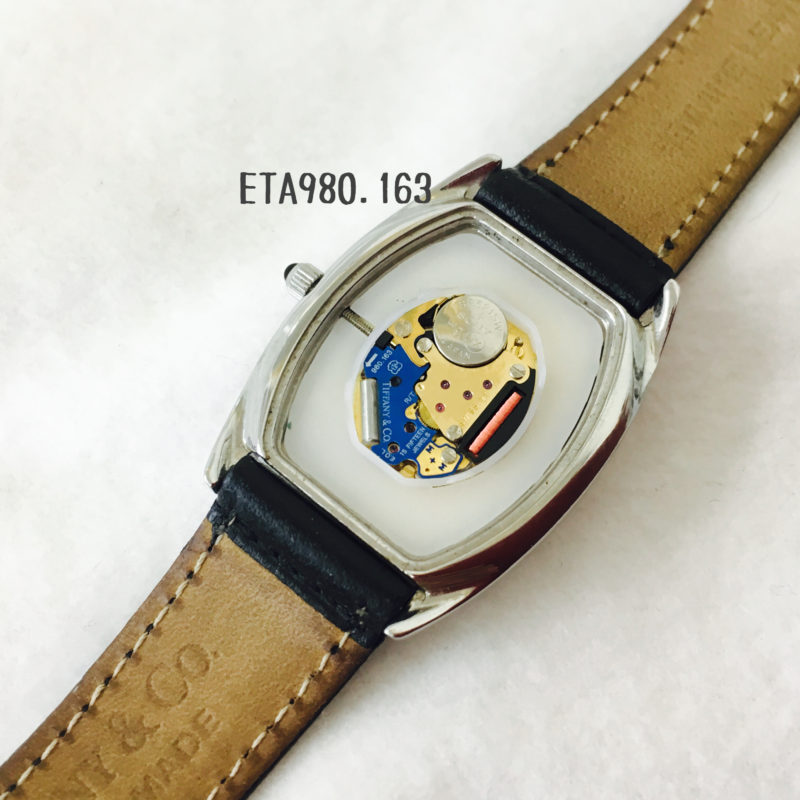 ティファニーの腕時計の電池交換_ムーブメントはETA980.163