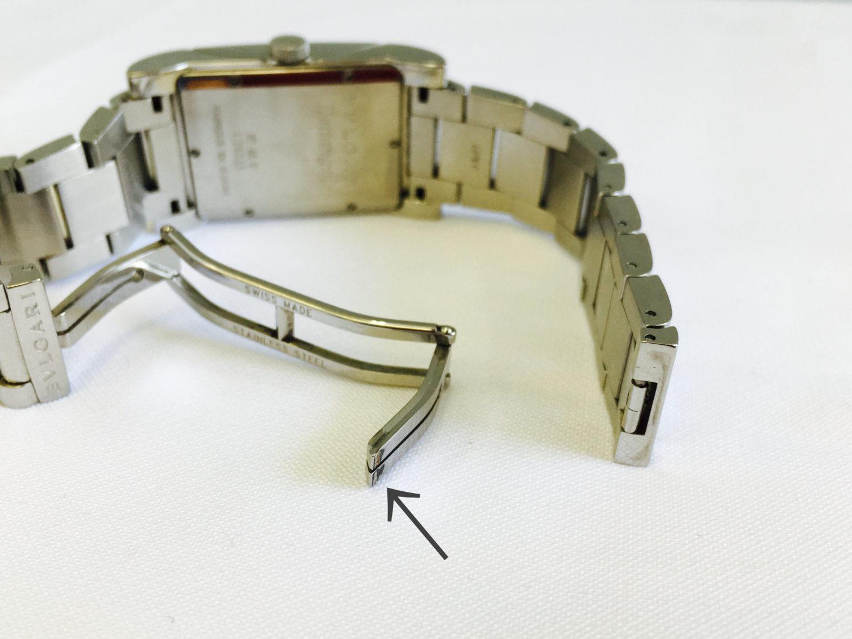 ブルガリ 自動巻の腕時計のベルト修理_修理前の写真