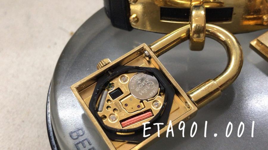 エルメスのケリーウォッチの電池交換