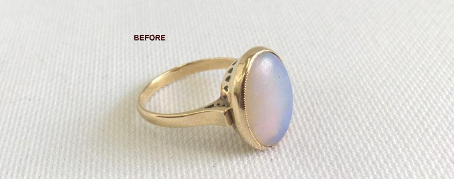 リフォーム前_オパール指輪