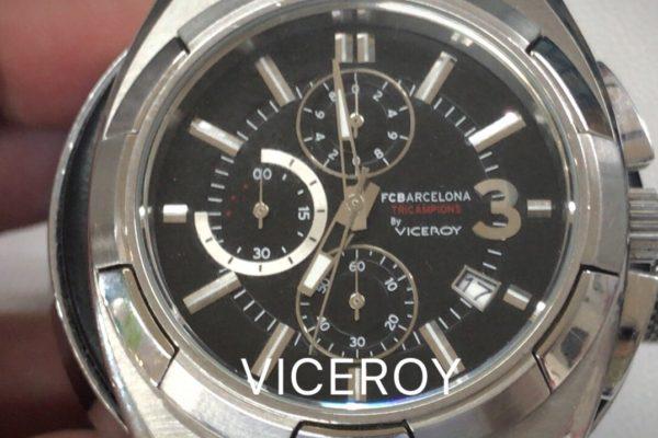 スペイン発の腕時計、VICEROYのFCバルセロナ・モデルの電池交換完了です。電池交換は山梨県のオプトナカムラにおまかせ下さい^ ^