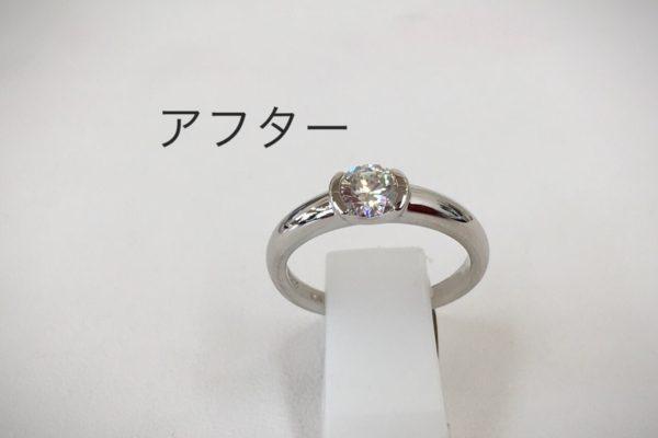 立て爪のダイヤリングの作り替え