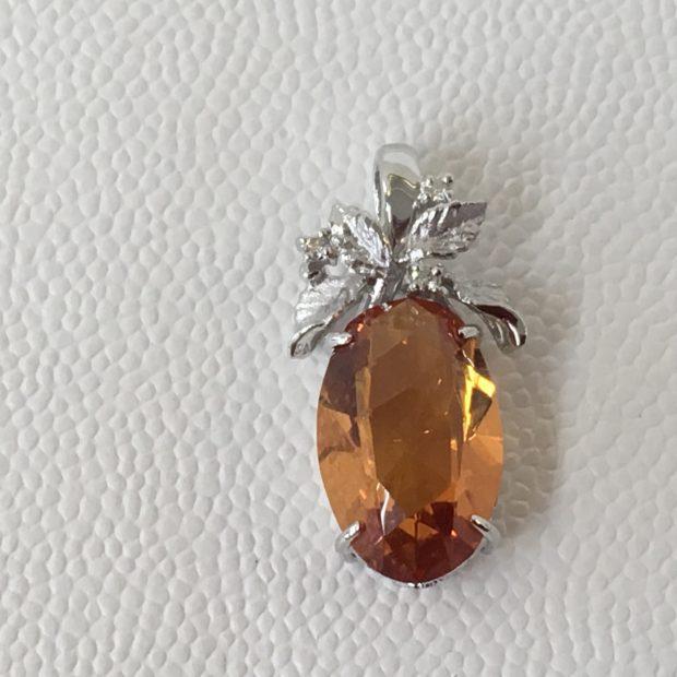 オレンジサファイヤの指輪の作り替えを承りました。 AFTER