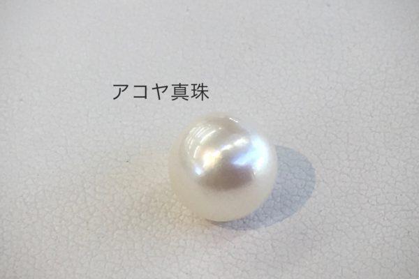 余っていた真珠を使ってブローチを作りました。