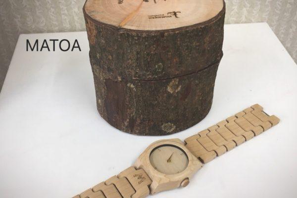 木製の腕時計のベルトの長さ調整~ MATOA~