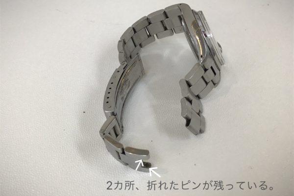 鳴沢村にお住いのW様より、ROLEXのベルト修理を承りました。