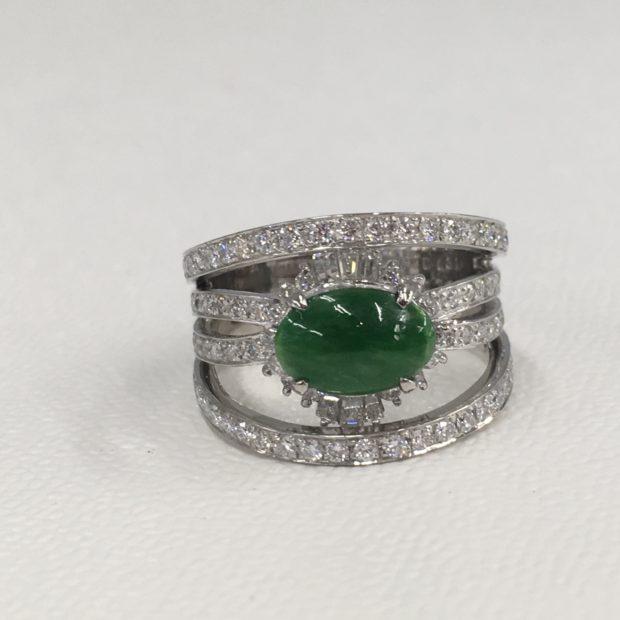お母様から譲ってもらった翡翠の指輪の作り替え AFTER