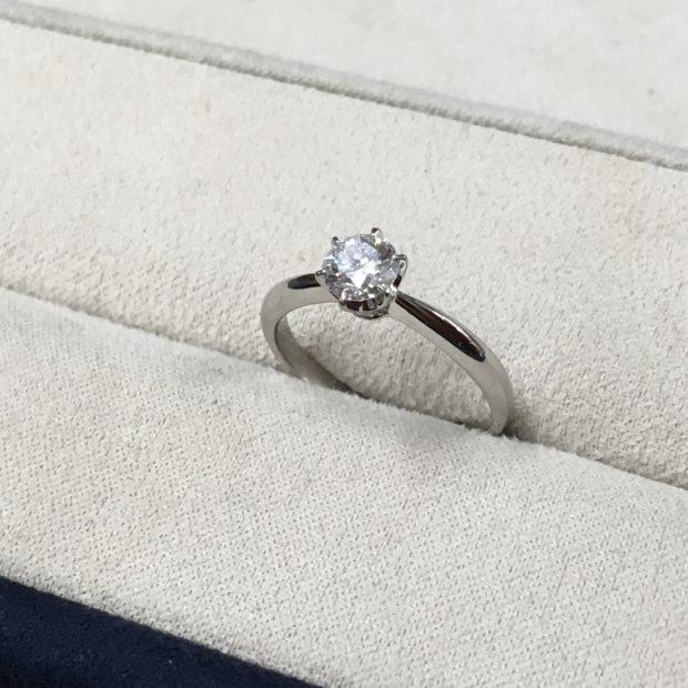 ダイヤモンドの指輪をペンダントにリフォーム BEFORE