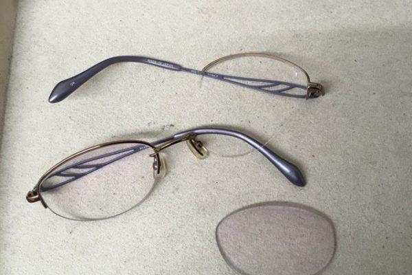 メガネフレームが折れてしまった!?
